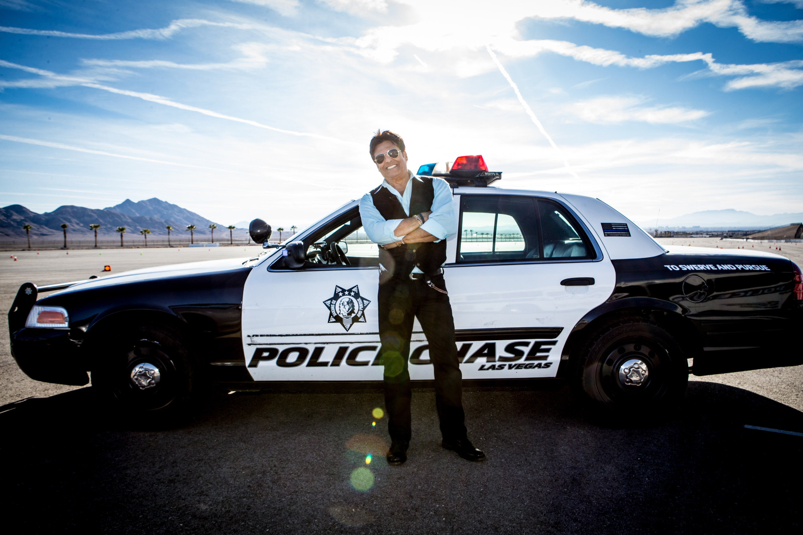 "POLICE CHASE EXPERIENCE LAS VEGAS grand opening and on-site video training will feature Erik Estrada, from the television series ""CHIPS."""